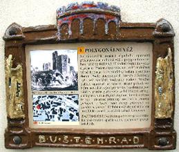 Ukázka tabulky na jednom ze zastavení stezky
